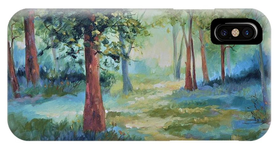 Trees IPhone X Case featuring the painting A Path Not Taken by Ginger Concepcion