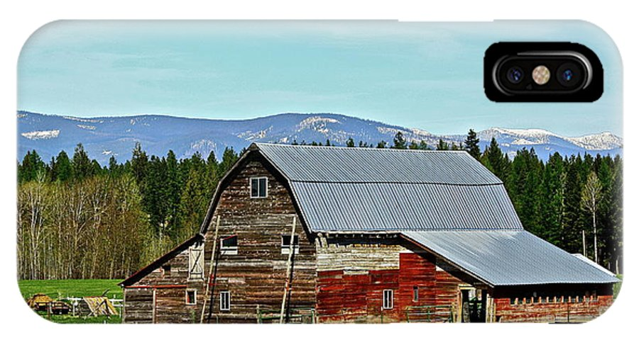 Barn IPhone X Case featuring the photograph A Peaceful Place by Diana Hatcher