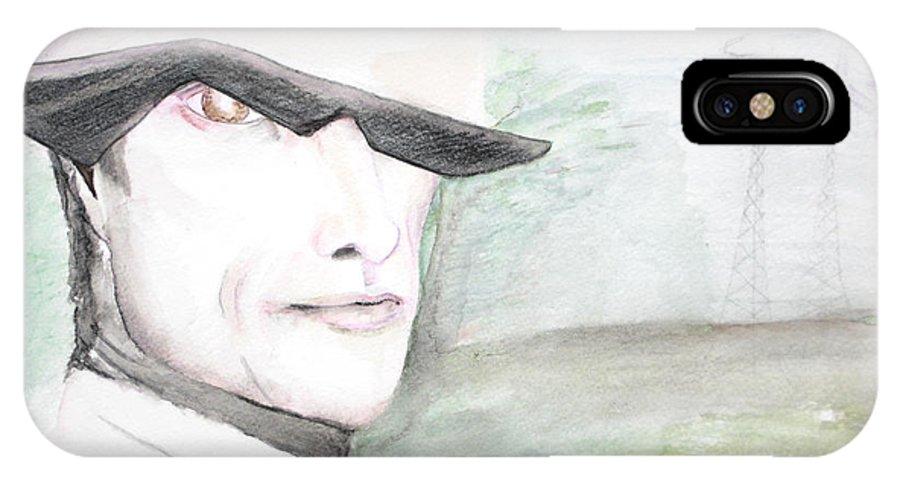 Perry Farrell Jane's Addiction Darkestartist Darkest Artist IPhone X Case featuring the painting A Perry Farrell Plan by Darkest Artist