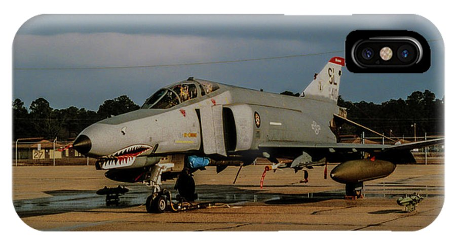 Mcdonnell Douglas F-4c Phantom Ii IPhone X Case featuring the photograph A Phantom In Waiting by Tommy Anderson