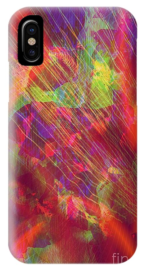 Abstract IPhone X / XS Case featuring the photograph A Radiant Renaissance by Trent Jackson