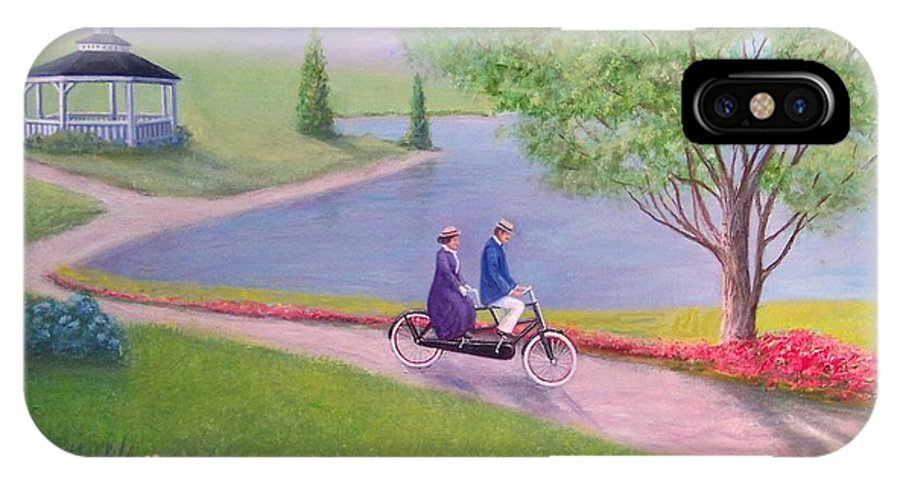 Landscape IPhone X Case featuring the painting A Ride In The Park by William H RaVell III