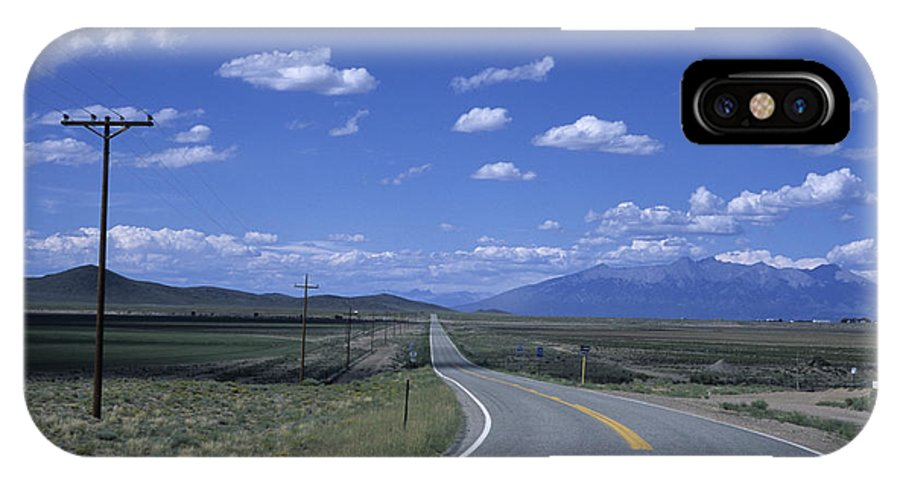 Colorado IPhone X Case featuring the photograph A Road Disappears Into The Distance by Taylor S. Kennedy