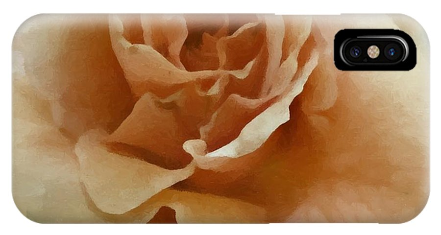 Pink IPhone X Case featuring the digital art A Rose For Lady Mary by Patricia Strand
