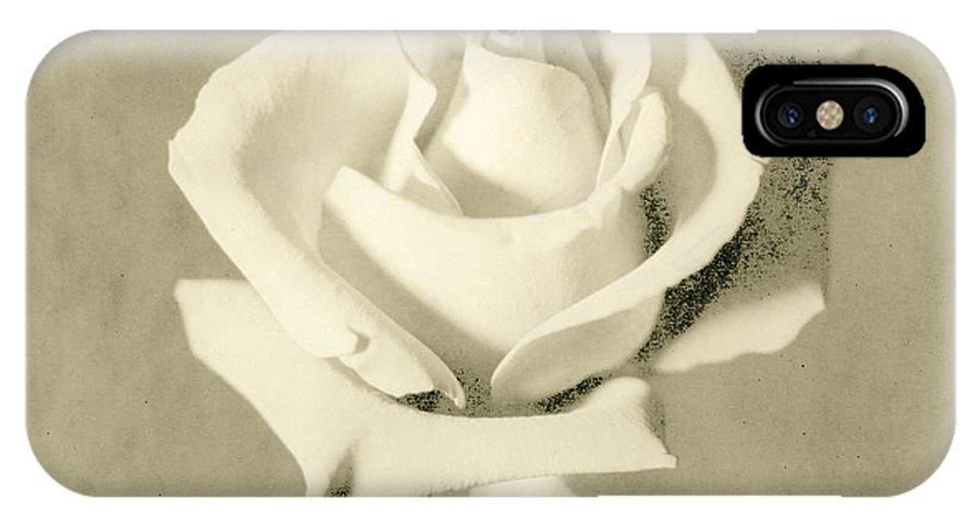 Rose IPhone X Case featuring the photograph A Rose Of Alternate Processed by John Harmon