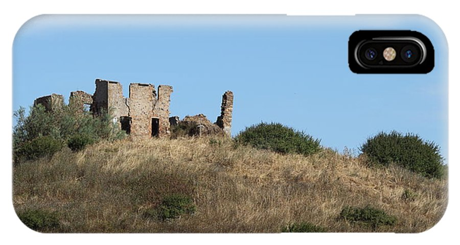 Hills IPhone X / XS Case featuring the photograph A Ruin In The Hills Of Tuscany by Samantha Mattiello