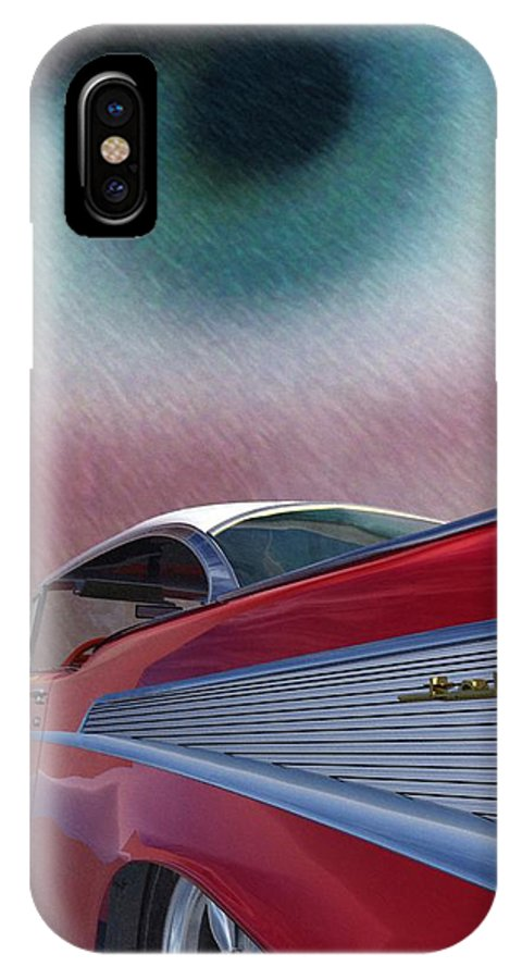 Classic Cars IPhone X Case featuring the digital art A Second Look by Richard Rizzo