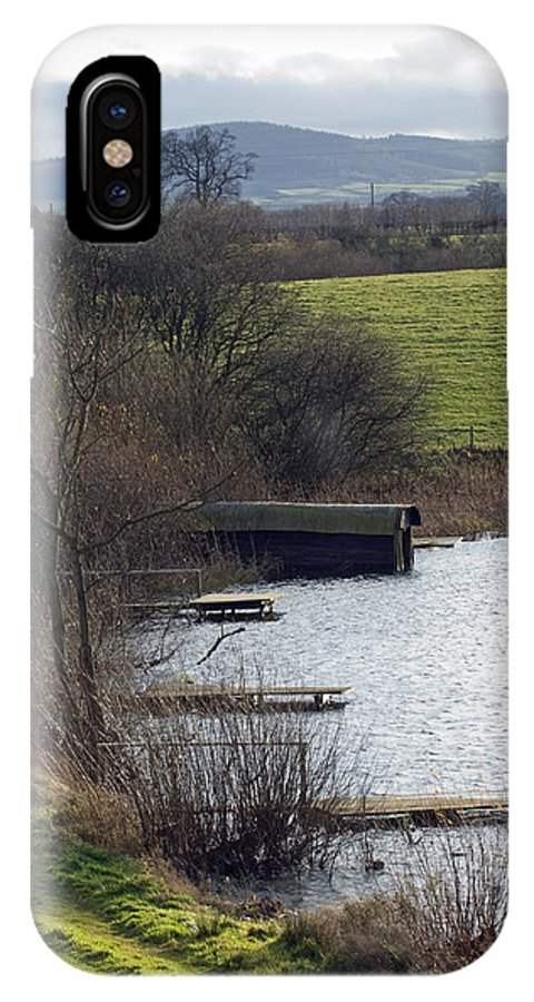 Shropshire IPhone X Case featuring the photograph A Shropshire Mere by Bob Kemp