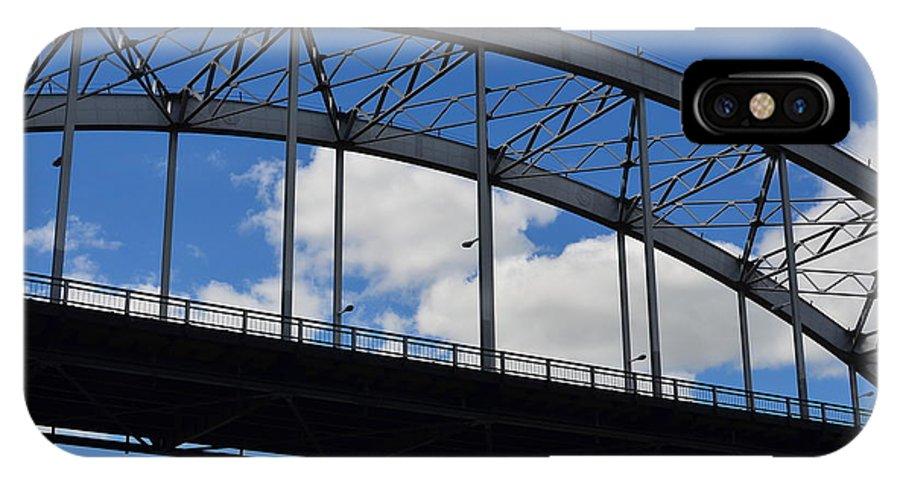 Rock Island Centennial Bridge IPhone X Case featuring the photograph A Single Span by Tammy Mutka