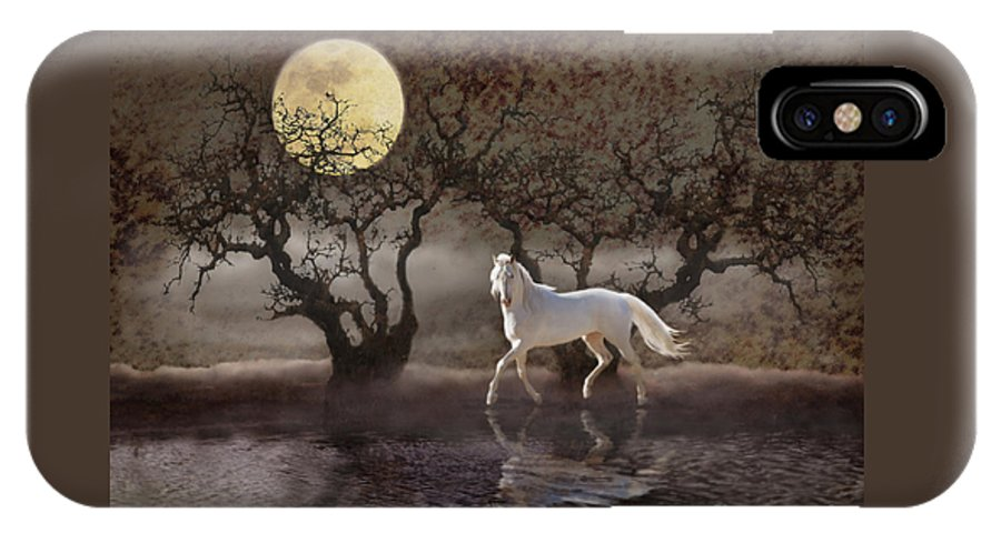 White Horses IPhone X Case featuring the photograph A Summer Night's Dream by Melinda Hughes-Berland