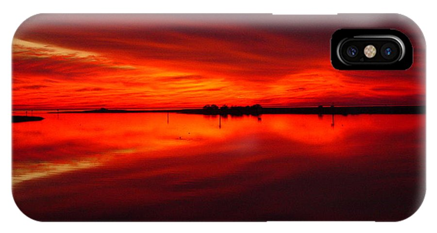 Sunset IPhone X Case featuring the photograph A Sunset Kiss -debbie-may by Debbie May