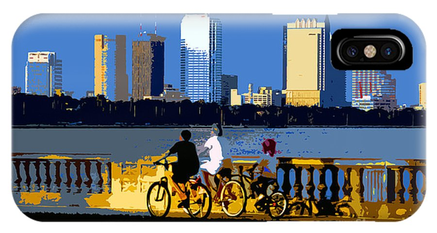 Tampa Bay Florida IPhone X Case featuring the painting A Tampa Bay Florida Summer by David Lee Thompson