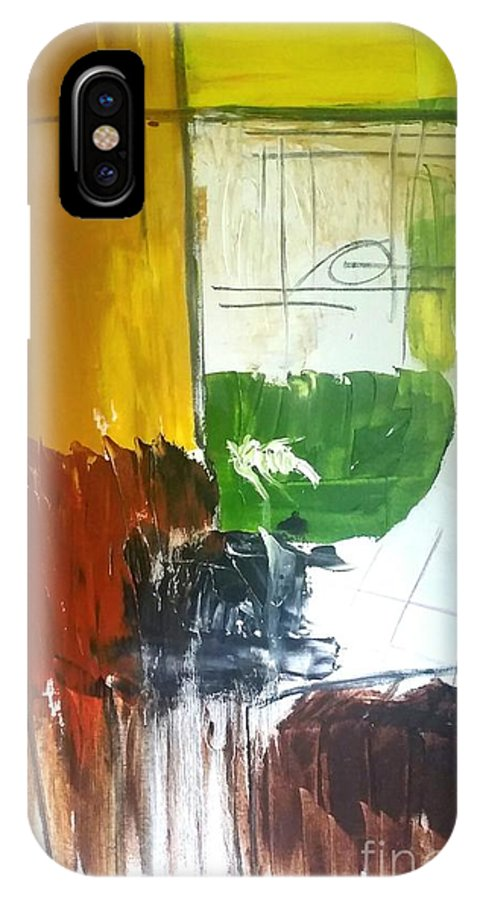 Abstract IPhone X Case featuring the painting A Taste Of Home by Paulo Guimaraes