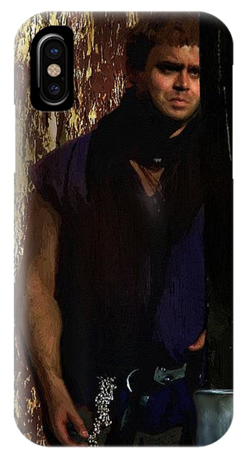Man IPhone X / XS Case featuring the painting A Tavern In Deptford by RC DeWinter