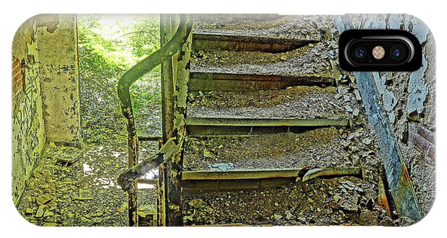 Stairs IPhone X Case featuring the photograph A Time Forgotten by Derek Casper