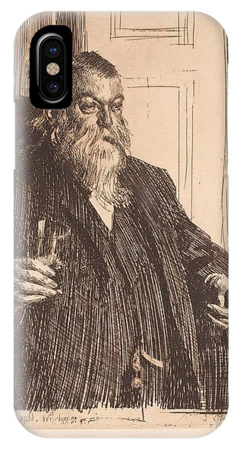 Anders Zorn IPhone X Case featuring the painting A Toast II by Celestial Images