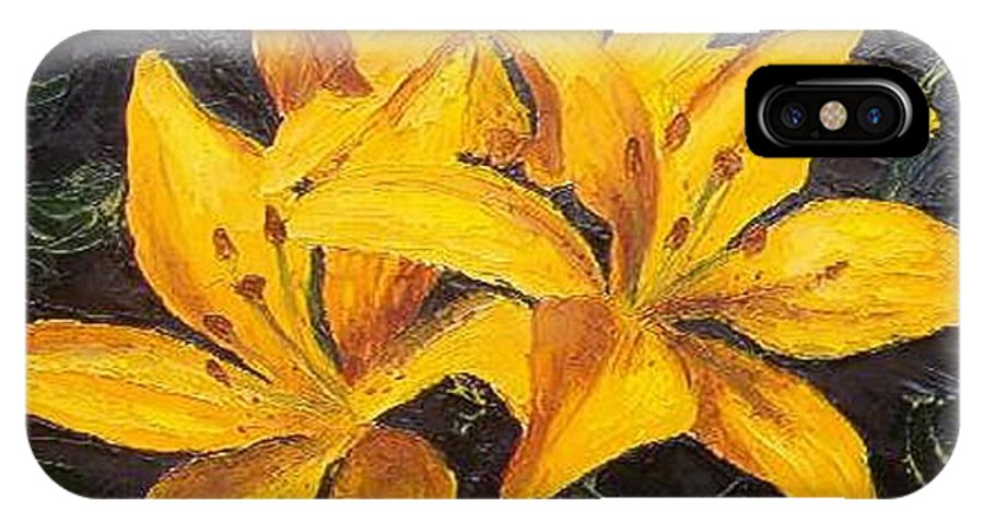 IPhone Case featuring the painting A Touch Of Gold by Tami Booher