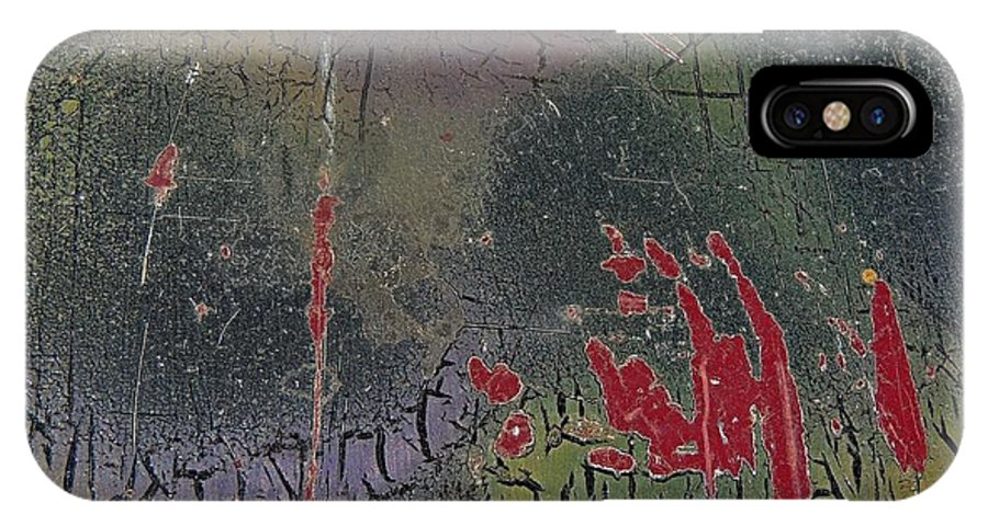 Abstract IPhone X Case featuring the photograph A Touch Of Red by Denise Clark