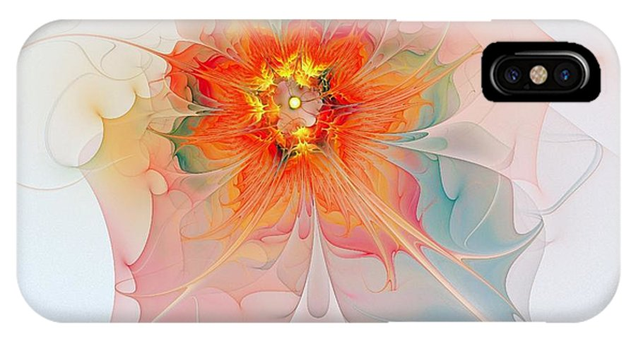 Digital Art IPhone X Case featuring the digital art A Touch Of Spring by Amanda Moore
