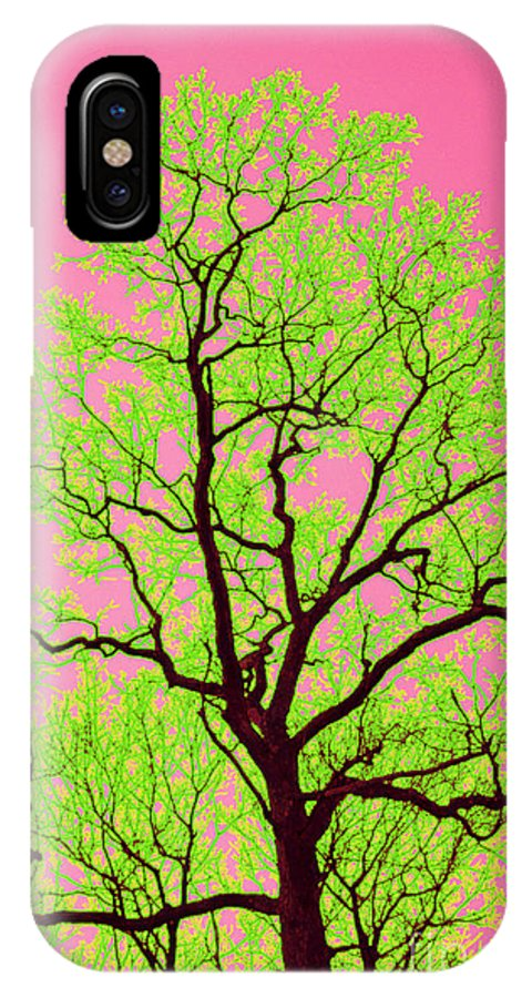 Lime Green IPhone X Case featuring the photograph A Tree Grows In Vegas by Valerie Fuqua