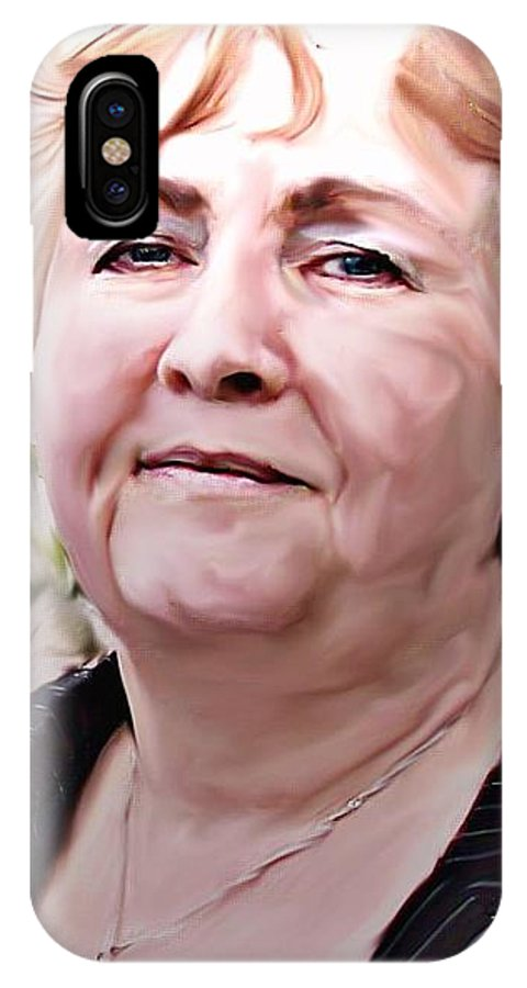 People IPhone X Case featuring the photograph A True Woman by Crystal Webb