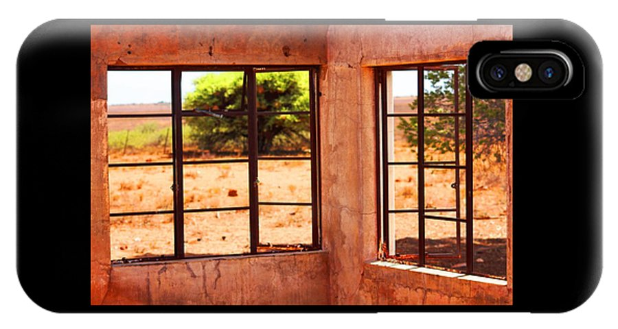 Broken IPhone X / XS Case featuring the photograph A View From An Abandoned House by Elton Oliver