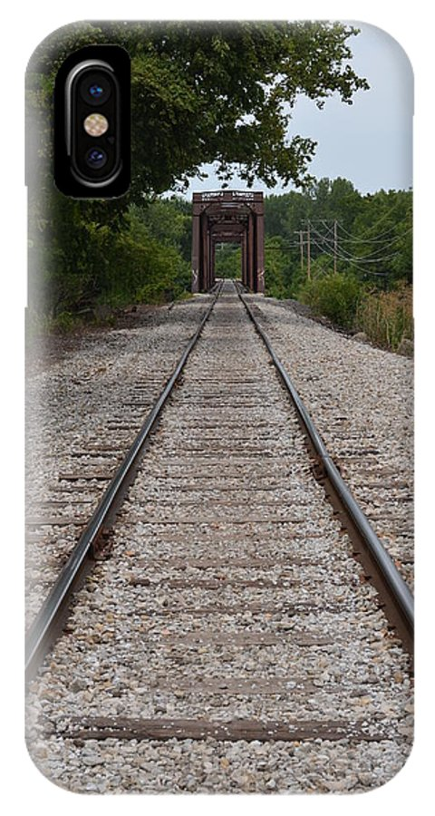 Rock River IPhone X Case featuring the photograph A View From The Tracks by Tammy Mutka