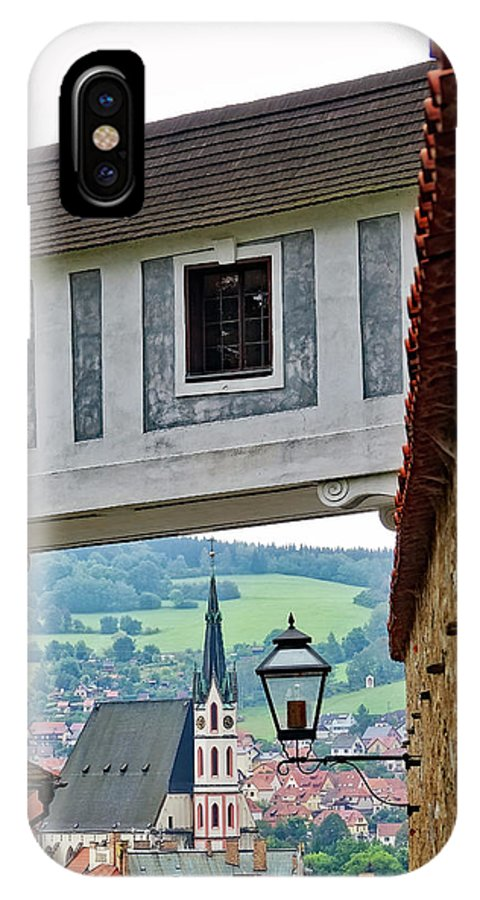 Cesky Krumlov IPhone X Case featuring the photograph A View Of Cesky Krumlov In The Czech Republic by Richard Rosenshein