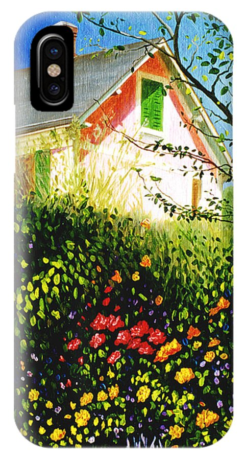 Monets House IPhone X Case featuring the painting A View Of Monets House In Giverny France by Gary Hernandez