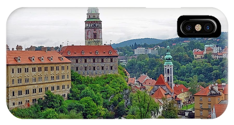 Cesky Krumlov IPhone X Case featuring the photograph A View Of The Cesky Kromluv Castle Complex In The Czech Republic by Richard Rosenshein