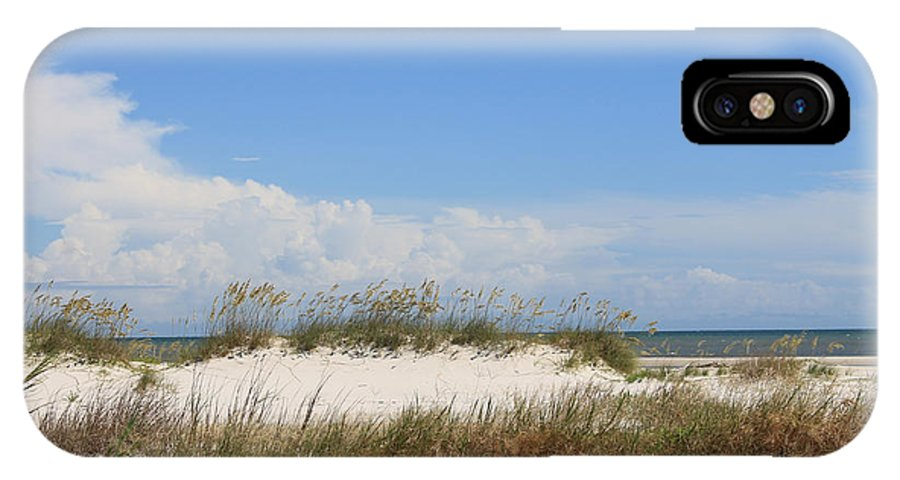 Beach IPhone X Case featuring the photograph A View Of The Dunes by Laura Martin
