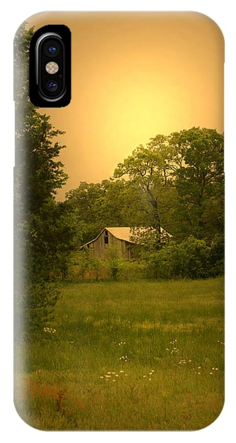 Landscape IPhone X Case featuring the photograph A Walk In Country by Nina Fosdick