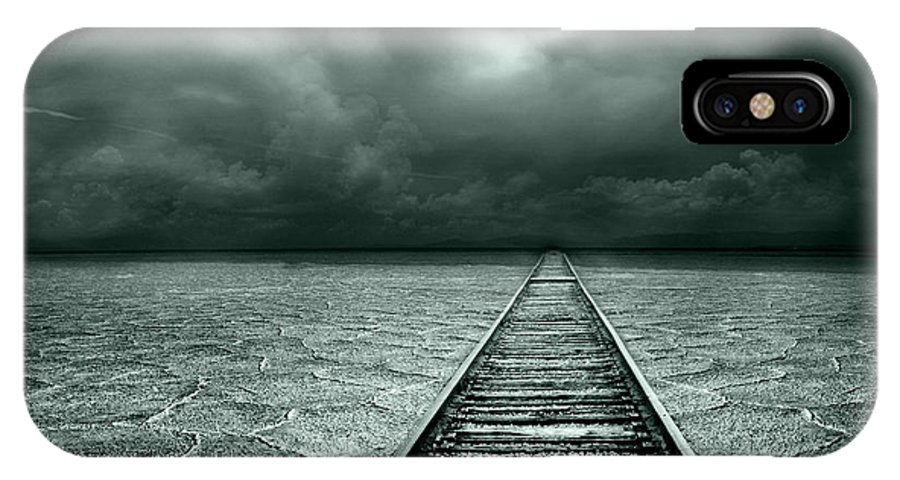 Conceptual IPhone X Case featuring the photograph A Way Out by Jacky Gerritsen