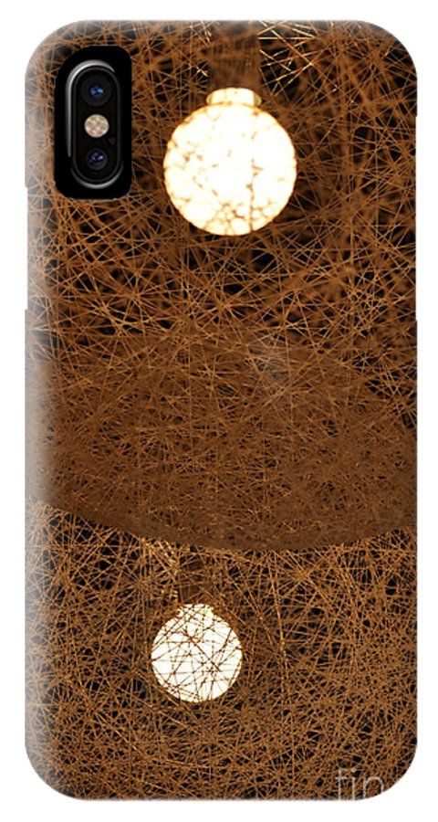Clay IPhone X Case featuring the photograph A Web Of Photons by Clayton Bruster