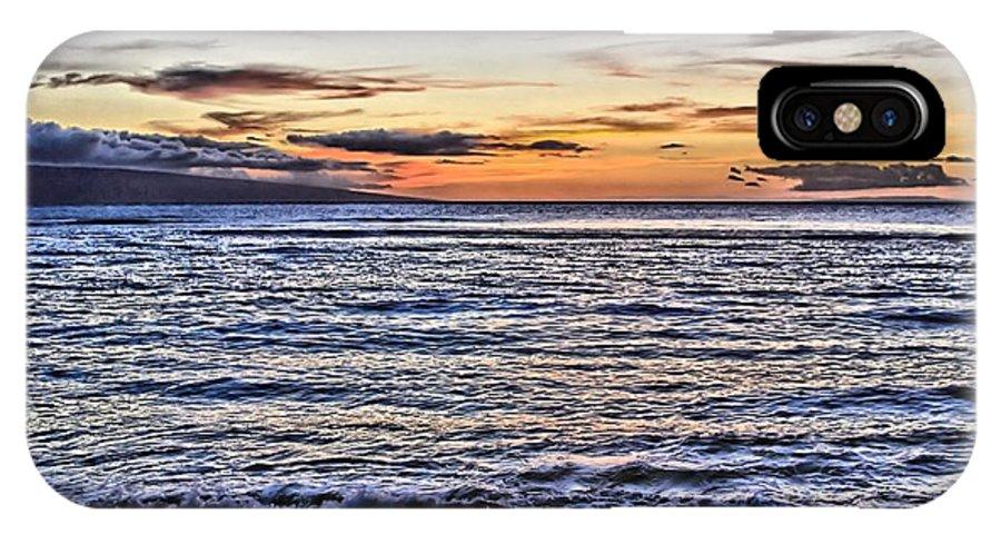 Sunset IPhone X / XS Case featuring the photograph A Western Maui Sunset by DJ Florek
