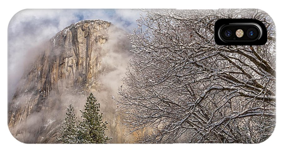 Landscape IPhone X Case featuring the photograph A Winter Scene by Jonathan Nguyen