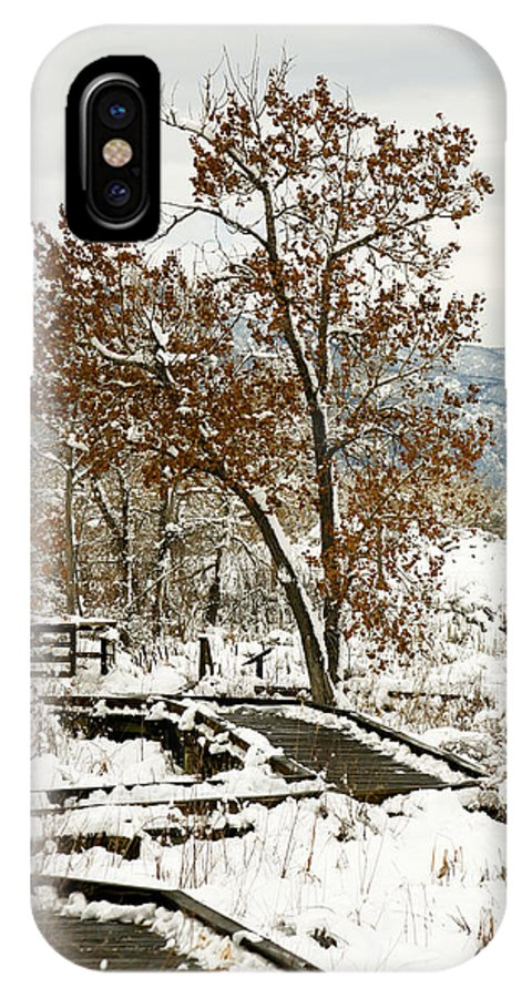 Boardwalk IPhone X Case featuring the photograph A Winter's Boardwalk by Marilyn Hunt