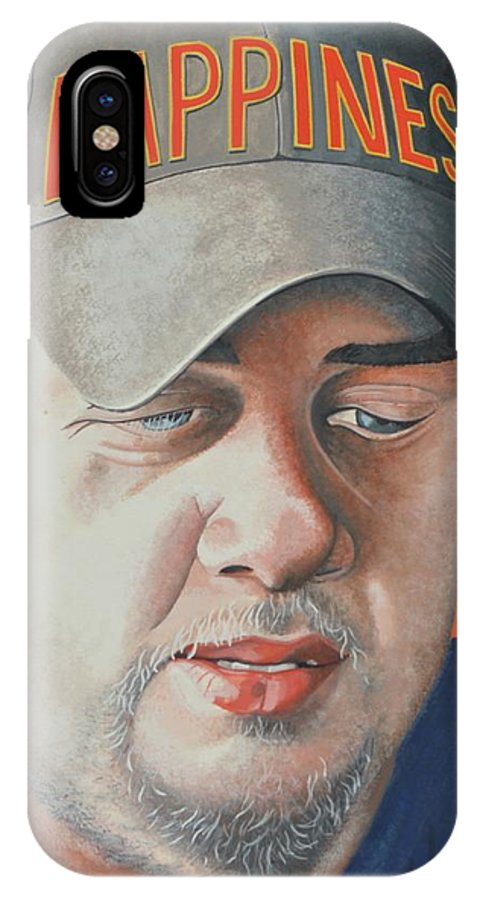 Portrait IPhone X Case featuring the painting A Wish For Jamie by John Houseman