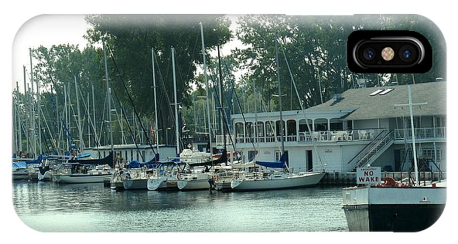 Toronto IPhone X Case featuring the photograph A Yacht Club by Ian MacDonald