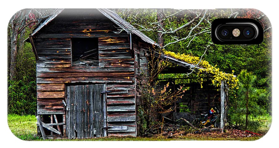 Barn IPhone X Case featuring the photograph A Yellow Cover by Christopher Holmes