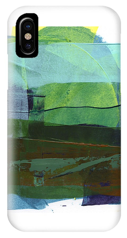 Abstract IPhone X Case featuring the painting Rcnpaintings.com by Chris N Rohrbach