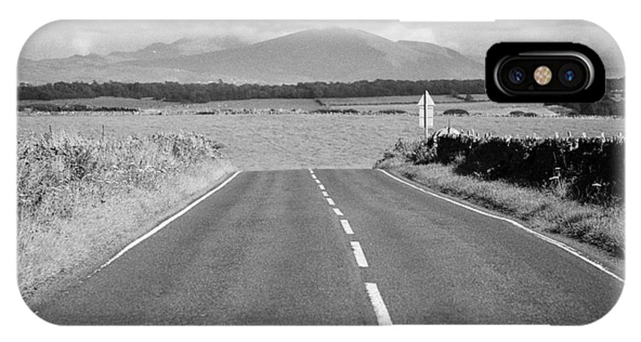 A4080 IPhone X / XS Case featuring the photograph A4080 Rural A Road Through Rural Anglesey North Wales Uk by Joe Fox