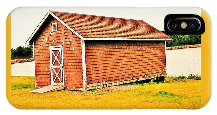 Abandoned Barn IPhone X Case featuring the photograph Abandoned Barn by Olga Zavgorodnya