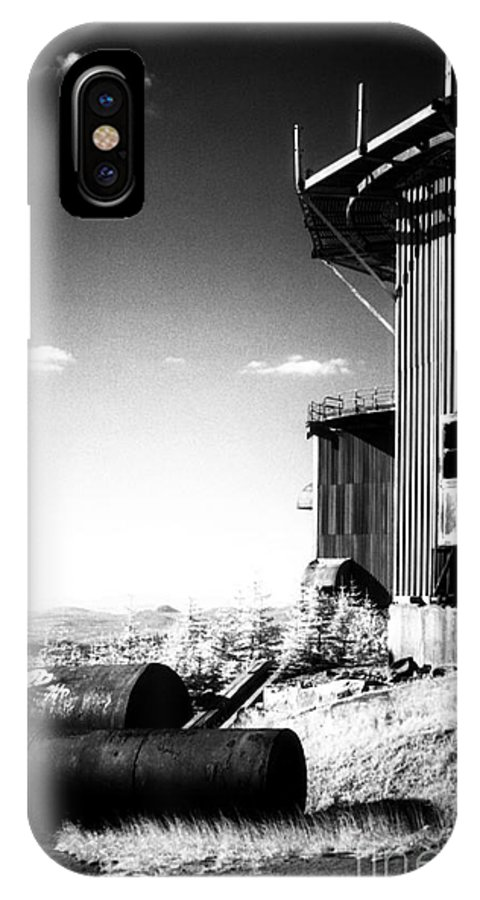 Abandoned IPhone X Case featuring the photograph Abandoned Radar by Richard Rizzo