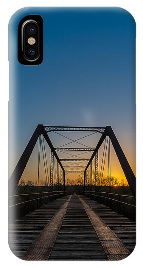 IPhone X Case featuring the photograph Abandoned Steel Bridge by David Downs