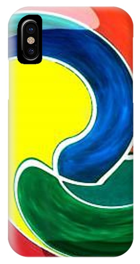Digitalized IPhone X Case featuring the digital art Abbs by Andrew Johnson