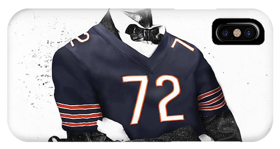 Abe Lincoln Drawings Drawings IPhone X Case featuring the digital art Abe Lincoln In A William Perry Chicago Bears Jersey by Roly O