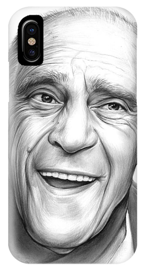 Celebrities IPhone X Case featuring the drawing Abe Vigota by Greg Joens