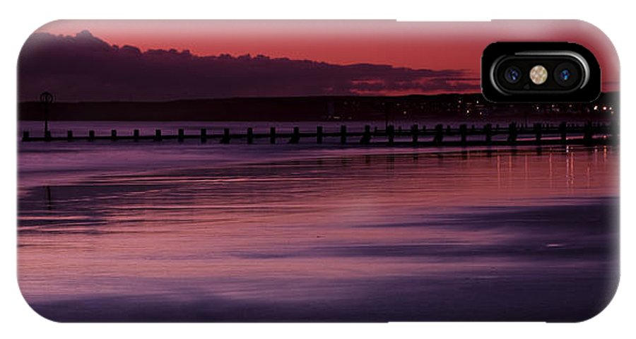 Britain IPhone X Case featuring the photograph Aberdeen Beach After Sunset by Gabor Pozsgai