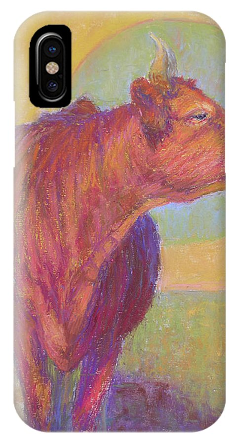 Cows IPhone Case featuring the painting Abigail by Susan Williamson